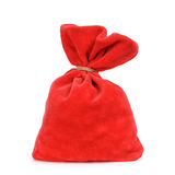 Santa red bag, isolated on white Stock Images