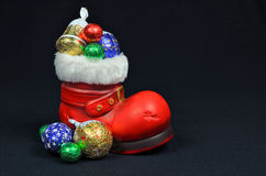 Santa Red Boot Imagem de Stock Royalty Free