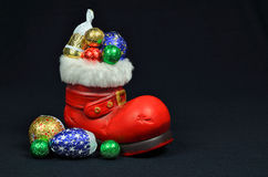 Santa Red Boot Stock Photography