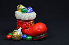 Santa Red Boot Royalty Free Stock Photos