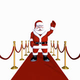 Santa on the Red Carpet 2. Santa on the Red Carpet, smiling and waving Stock Images