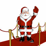 Santa on the Red Carpet 3 Royalty Free Stock Images