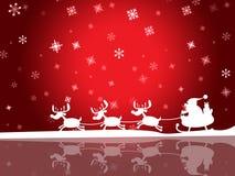 Santa Red Means Winter Snow y saludo Imagenes de archivo