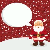 Santa Red Notes Vector Christmas hälsningkort Arkivbild