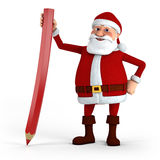 Santa with red pencil Stock Image
