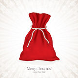 Santa red sack Royalty Free Stock Photo