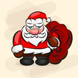 Santa In Red Suit classica Fotografie Stock Libere da Diritti
