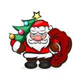 Santa In Red Suit classica Illustrazione di Stock