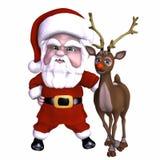 Santa and Reindeer 1 Stock Photos
