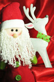 Santa and reindeer Royalty Free Stock Photography
