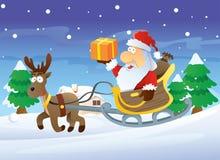 Santa and Reindeer Royalty Free Stock Photos