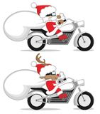 Santa and reindeer. This is an illustration of Santa and reindeer Stock Photos