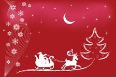 Santa reindeer Stock Image