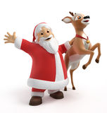Santa and reindeer Stock Photo