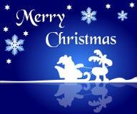 Santa and reindeer background Royalty Free Stock Image