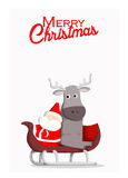 Santa and reindeer Christmas background Stock Photography
