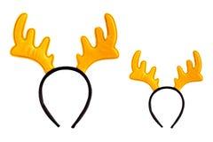 Santa reindeer headband isolated on white background. Royalty Free Stock Images