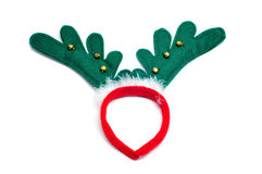 Santa reindeer horns Royalty Free Stock Image