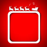 Santa and Reindeer over red Stock Photo