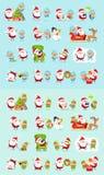 Santa, Reindeer, Snow Maiden, Ice Princess Elf Set Royalty Free Stock Images