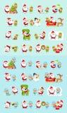 Santa, Reindeer, Snow Maiden, Ice Princess Elf Set Stock Photos