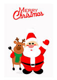Santa and reindeer Stock Image