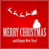 Santa with reindeers and sack Stock Photos