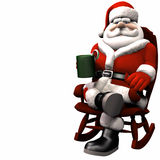 Santa Relaxing 1 Stock Photo