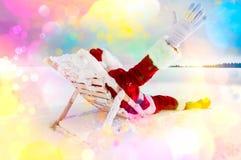 Santa relaxing Stock Photo