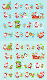 Santa, renne, neigent jeune fille, princesse Elf Set de glace illustration libre de droits
