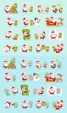 Santa, renne, neigent jeune fille, princesse Elf Set de glace illustration stock
