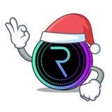 Santa request network coin mascot cartoon. Vector illustration Stock Photos