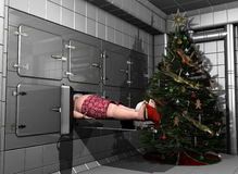 Santa Rest in Peace Stock Photography