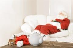 Santa Resting Royaltyfri Foto