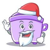 Santa rice cooker character cartoon Stock Photos