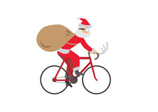 Santa_Ride_Bike Stockbild