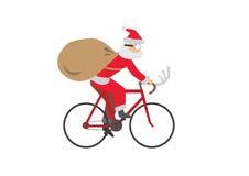 Santa_Ride_Bike Stock Image