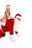 Santa riding Royalty Free Stock Image