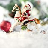 Santa riding a horse Royalty Free Stock Photos