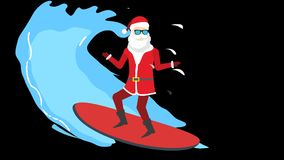 Santa on the rafting board.