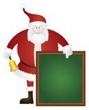 Santa Ringing Bell avec l'illustration de panneau de signe Image libre de droits