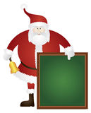 Santa Ringing Bell with Sign Board Illustration Royalty Free Stock Image