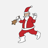Santa rings bell Royalty Free Stock Image