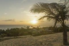 Santa Rita beach in the morning - Sunrise. Santa Rita beach is a small village very close to Genipabu in Natal, RN, Brazil Stock Images