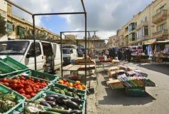 Santa Rita street in Rabat. Malta Stock Images