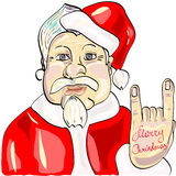 Santa rock and roll. Modern Santa Claus prefers rock and roll Stock Photography