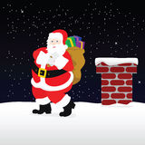Santa on the roof Royalty Free Stock Photo
