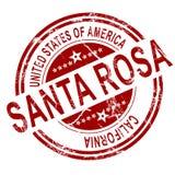 Santa Rosa avec le fond blanc illustration stock