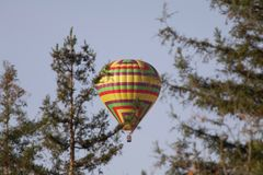 Santa Rosa, California is the largest city in California`s Redwood Empire, Wine Country and the North Bay - air balloon. Natures stock photo