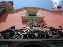 Santa Rosa Cathedral-Puebla royalty free stock photos
